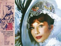 My Fair Lady movie poster [Audrey Hepburn, Rex Harrison] 36x26