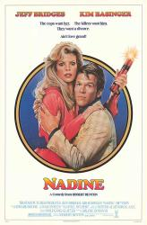 Nadine movie poster (1987) [Jeff Bridges, Kim Basinger] original 27x41