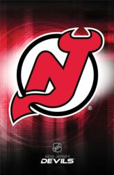 New Jersey Devils logo poster (NHL) 22 1/2'' X 34''