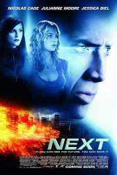 Next movie poster [Nicolas Cage, Julianne Moore, Jessica Biel] 27x40
