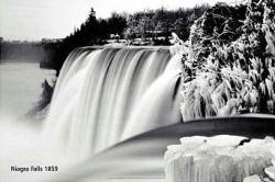Niagara Falls poster: Winter, 1859 (36'' X 24'') New
