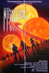 Nightfall movie poster [Isaac Asimov's Nightfall] 1988 original 27x40