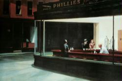"Edward Hopper poster: Nighthawks (36'' X 24"") New"