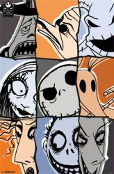 The Nightmare Before Christmas movie poster: Characters (22x34)