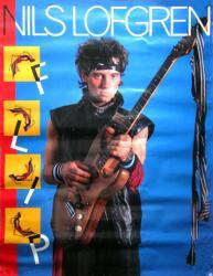 """Nils Lofgren poster: Flip (26 1/2"""" X 34 1/2"""") 1985 promo poster"""
