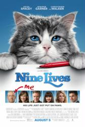 Nine Lives movie poster (2016) [Kevin Spacey, Jennifer Garner] 27x40