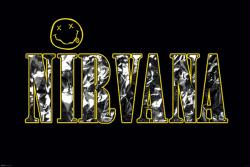 Nirvana poster: Name and Logo (36x24) rock band