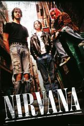 Nirvana poster: Alley (24'' X 36'') Kurt Cobain