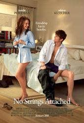 No Strings Attached movie poster /Natalie Portman/Ashton Kutcher/27x40