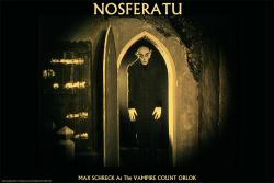 Nosferatu, A Symphony of Horror movie poster [Max Schreck] F.W. Murnau