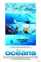 Oceans movie poster [DisneyNature documentary] original 27x40