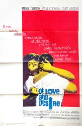 Of Love and Desire movie poster (1963) [Merle Oberon] original 27x41