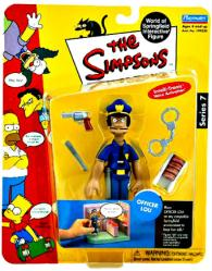 The Simpsons Series 7: Officer Lou action figure (Playmates/2001)