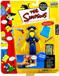The Simpsons Series 7: Officer Marge action figure (Playmates/2001)