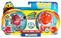 Pac-Man Ghostly Adventures: Pac's Pal Spiral & Clyde Pac Panic figures