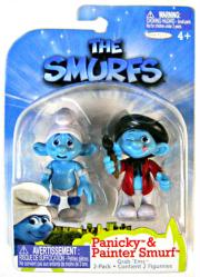 The Smurfs: Panicky & Painter Smurf figures (JAKKS Pacific/2011)
