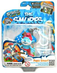 The Smurfs: Papa Smurf figure backpack clip with Swappz Coin