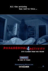 Paranormal Activity 4 movie poster (2012) original 27 X 40 NM