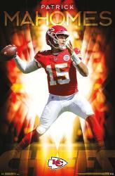 Patrick Mahomes poster: Kansas City Chiefs (NFL) 22x34