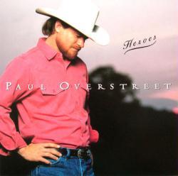 Paul Overstreet poster: Heroes vintage LP/album flat