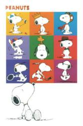 Peanuts poster: The Many Faces of Snoopy (24x36)