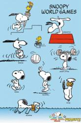 Peanuts poster: Snoopy World Games (24x36)