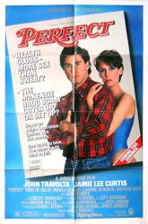 Perfect movie poster [John Travolta, Jamie Lee Curtis] original 27x41