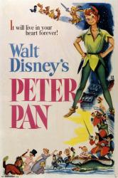 Peter Pan movie poster (24x36) 1953 Walt Disney animated