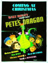 Pete's Dragon movie poster [Walt Disney] 1977 original 30x40