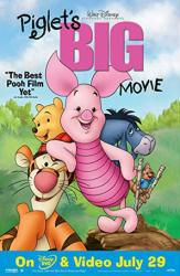 Piglet's Big Movie poster (Disney animated) 26x40 video version