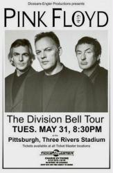 Pink Floyd poster: The Division Bell Tour 11'' X 17'' concert poster