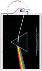 "Pink Floyd keychain: The Dark Side of the Moon (2 1/4"" X 1 1/2"")"