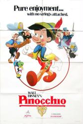 Pinocchio movie poster [Walt Disney] 1984 one-sheet