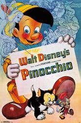 Pinocchio movie poster (24x36) Walt Disney 1940 animated classic