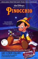 Pinocchio movie poster [Walt Disney] 26x40 video poster