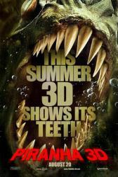Piranha 3D movie poster (2010) original 27x40 advance VG