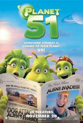 Planet 51 movie poster (2009) 27x40 advance teaser