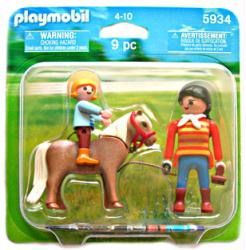 Playmobil: Horse, Trainer & Rider 9 pc action figure set #5934 (2010)