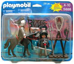 Playmobil: Knights with Horse 28 pc action figure set #5888 (2009)