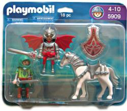 Playmobil: Knights with Horse 18 pc action figure set #5909 (2009)