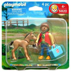 Playmobil: Veterinarian & Foal 4 pc action figure set #5820 (2007)