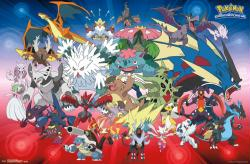 Pokemon poster: Mega Evolutions (34x22) New