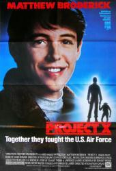 Project X movie poster (1987) [Matthew Broderick] 26x38