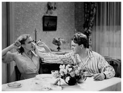 James Cagney & Mae Clarke poster print (26x20) Public Enemy grapefruit