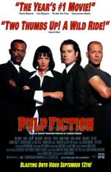 Pulp Fiction poster [Samuel L Jackson/Thurman/Travolta/Bruce Willis]