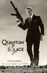 Quantum of Solace movie poster [Daniel Craig as James Bond]