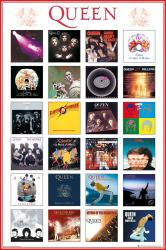 Queen poster: Album Discography (24x36) rock band