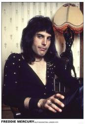 "Queen poster: Freddie Mercury, London 1974 (23.5"" x 33"")"