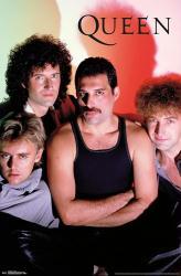 Queen poster: Group Shadow (22x34) Freddie Mercury
