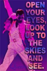 Queen poster: Open Your Eyes (24x36) Freddie Mercury